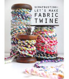 Cintia from My Poppet shows how you can turn your fabric scraps into this fun and colorful twisted twine. You can use the twine to wrap gifts, to make jewelry, and more. This is a great project f…