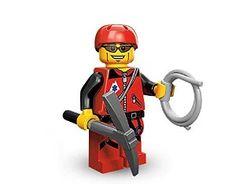 TAKARA TOMY LEGO Minifigures Series 11 Mountain Climber Rock Climber COLLECTIBLE Figure rescue worker