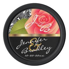Bride & Groom Coral Rose Wedding Design    Zazzle