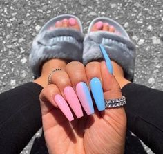 Are you looking for the best acrylic nail color for summer 2020? Check out these 22 popular nail ideas we have prepared for you. They include blue with different levels of brightness, simple white nails, coral red, nude, yellow, and light purple. These ideas are well worth trying! #nails #summernails #simplenails #acrylicnails #AcrylicNailsStiletto Bright Summer Acrylic Nails, Blue Acrylic Nails, Yellow Nails, Acrylic Colors, Bright Blue Nails, Light Purple Nails, Pastel Pink Nails, Blue And White Nails, Blue Coffin Nails