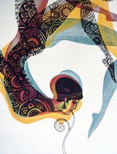 Vintage Soviet Circus Poster Artist: L. Modina | books, paper, scissors