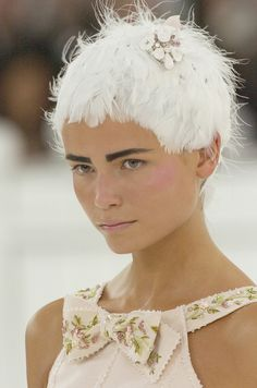 Natasha Poly at Chanel Haute Couture Spring 2005 - she looks like a winter pixie, and i love it!