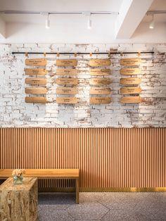 A Tour of The Gelato Dal Cuore Ice Cream Shop in Shanghai Menu board Menu Board Design, Menu Design, Cafe Design, Design Ideas, Coffee Shop Interior Design, Showroom Interior Design, Cafe Menu Boards, Ice Cream Menu, Gelato Flavors