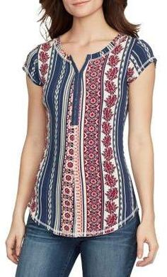 William Rast Cap Sleeve Henley Top William Rast, Stitch Fix Outfits, Henley Top, Short Tops, Diy Dress, Stylish Dresses, Timeless Fashion, Designing Women, Blouse Designs
