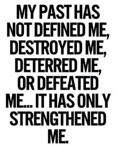 I stand undefeated and unbowed