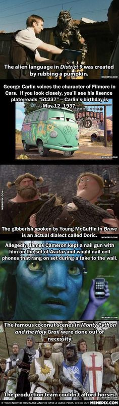 Just a few movie facts....the last one made me laugh XD