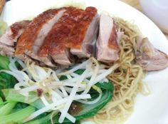 Dry noodle with roasted duck. Mỳ khô vịt quay