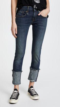 R13 Boy Skinny Jeans with Cuffs | SHOPBOP