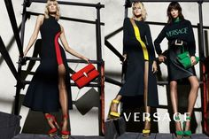 Karlie Kloss and Caroline Trentini flaunt their legs in two dresses with high slits