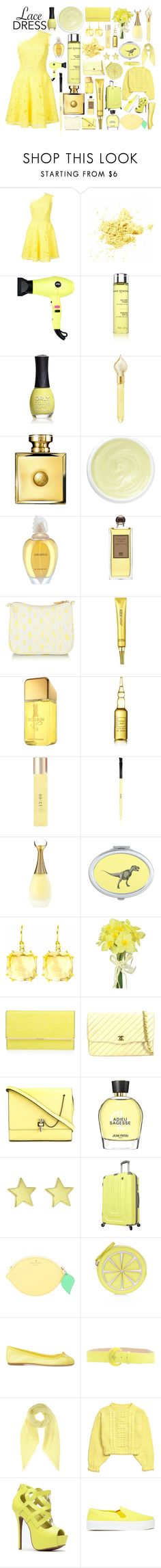 """""""Sem título #131"""" by tabata-sachetti ❤ liked on Polyvore featuring Monique Lhuillier, Eva NYC, Anne Semonin, ORLY, The Merchant Of Venice, Versace, Eve Lom, Givenchy, Serge Lutens and AERIN"""