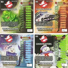 Ghostbusters scratch-off lotto tickets