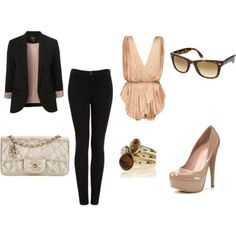 Great Combo! I have the blazer, the pants, the rayban.. all I need is the top, shoes and the purse!