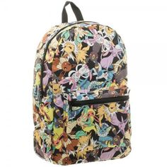 This is a Pokemon Eevee Evolution Toss Print Sublimated Backpack now for sale at Flashback Gear.