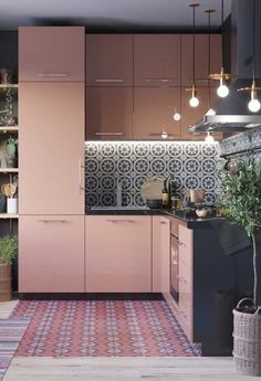 Blush Pink Kitchen: Beautiful Ideas for a Lovely Home Home Decor Kitchen, Interior, Home Decor Trends, Kitchen Remodel, Interior Design Kitchen, Pink Kitchen, Kitchen Decor Trends, Home Kitchens, Kitchen Design
