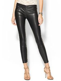 Love that they have jean-like details! Great reviews too! Blank Denim Pussy Cat Vegan Leather Leggings | Piperlime