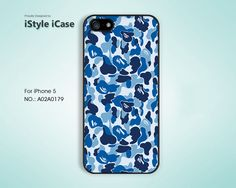 iPhone 5 Case -  Blue Bape, Psychedelic, iPhone Case, Case For iPhone - A02A0179. $12.99, via Etsy.