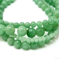 High Quality 4mm 6mm 8mm 10mm Natural charms Green Aventurine Round Jade Stone Beads fit for bracelet & DIY jewelry making
