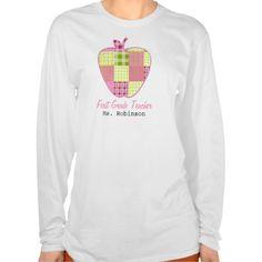Plaid Apple First Grade Teacher T Shirt, Hoodie Sweatshirt