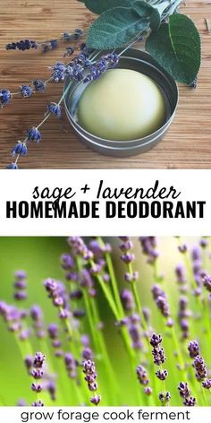 Homemade deodorant is easy to make and good for your health. This herbal deodorant recipe is made with lavender and sage, both herbs that have many beneficial properties. spa Homemade Deodorant Recipe with Lavender and Sage Diy Deodorant, Home Made Deodorant Recipes, Homemade Natural Deodorant, Natural Treatments, Natural Remedies, Herbal Remedies, Health Remedies, Cold Remedies, Asthma Remedies