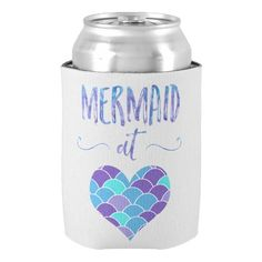 Cute Mermaid at Heart Can Koozie