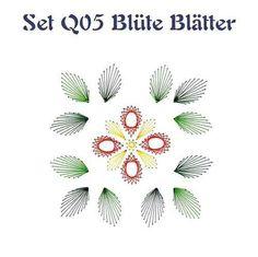 Set Q05 Blüte Blätter