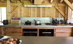 As in all Bartherotte cabins, just about everything is made of the area's pine and other woods. The kitchen appliances include a Miele Pureline Series Wall Oven.