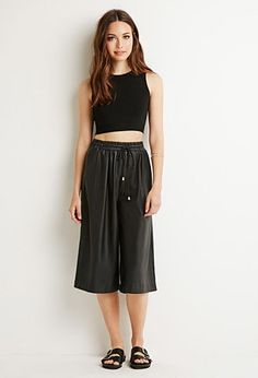 Leather Culottes | The Miller Affect