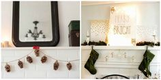 Adorable mantle decorations for the holidays! Check out the other 8 DIY Christmas Decorations that you'll absolutely fall in love with! 3d-memoirs.com