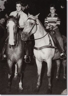June Juanico & Elvis Presley Gulf Hills Dude Ranch, OCEAN SPRINGS, MS 1956