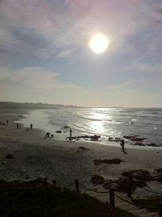 Asilomar Beach, California on January 14, 2012