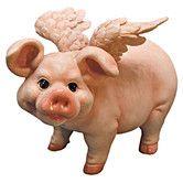 Hog Heaven Flying Pigs Standing Statue
