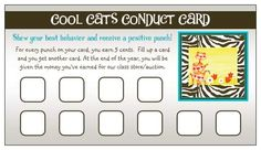 Punch Card for incentives