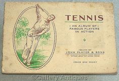 Players Tennis Full Set Cigarette Cards in Album 1936 #followvintage