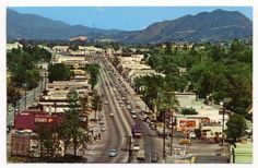 Ventura Blvd, Studio City -  San Fernando Valley - Los Angeles, Ca circa 1950's