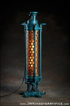 the Harrogate Table Lamp: an industrial themed accent table lantern
