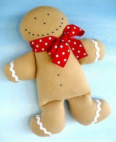 Gingerbread Man & Snowman Doll - Gift