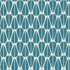Little Leaves Teal Organic Canvas Fabric by Monaluna Textiles, Textile Patterns, Print Patterns, Geometric Patterns, Islamic Patterns, Textile Design, Stash Fabrics, Cedar Homes, Teal Fabric