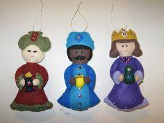 Fans of Carolyn DeAngelis Felt Ornaments: Christmas