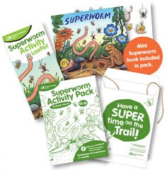 http://blog.muddypuddles.com/calling-all-superworm-super-heroes/. Families can enjoy exploring the woods together, completing various Superworm-themed activities from hunting for mini-beasts to creating a Superworm super hero. The activities are all designed to get children using their 'superhero' senses and powers of discovery to become a nature detective.