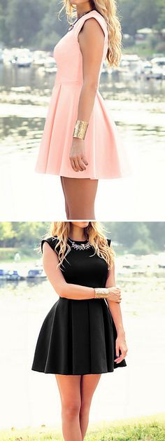 Casual chic swing dress in light pink powder , black, blue, red colors at $11.95. Enjoy up to 85% off on our Black Friday sale till December 1st.