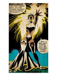 Marvel Comics Retro: X-Men Comic Panel, Storm (aged) Fierce!