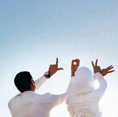 Love. Muslim couple