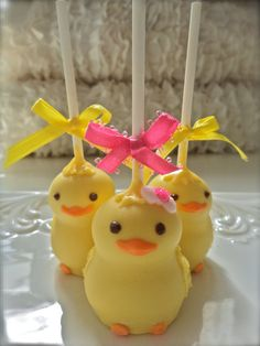 Edible Baby Shower Gender Reveal Cake Pops Frost by FrosttheCake, Cupcakes, Cupcake Cakes, Cake Pops Frosting, Easter Cake Pops, Baby Shower Cake Pops, Cookie Pops, Easter Treats, Eat Cake, Muffins