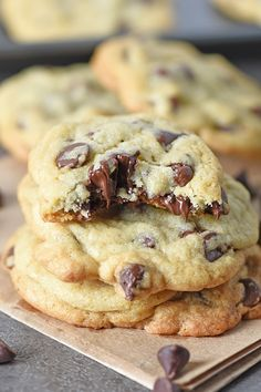 I love baking these chocolate chip cookies; this easy recipe really is the best ever. Plus, I share a couple of tips to make them chewy in the middle, slightly crispy around the edges.