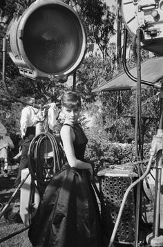 Audrey Hepburn on the set of 'Sabrina', 1953. Photo by Mark Shaw.