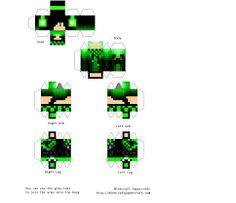 Afbeeldingsresultaat voor minecraft skin papercraft