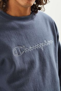 14271ac5 Champion & Urban Outfitters Script Logo Crew Neck Sweatshirt Script Logo,  Cool Outfits, T