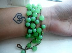 Jaded: Versatile crocheted necklace / bracelet / belt / headband on Etsy, $15.00