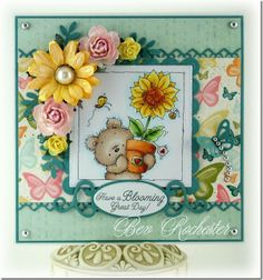 Blooming Lovely is a stamp that will be released from Lili of The Valley stamps on June 25th.  Can't wait!