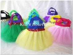 12 princess Party Favor Tutu bolsas añadir a tu por kidsbowtique